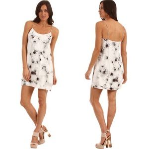 Toni white Blossom Crepe Slip Dress